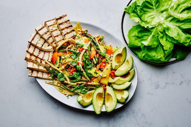 Grilled Thai Green Bean Salad